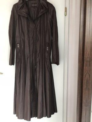 Creenstone Floor-Lenght Coat dark brown