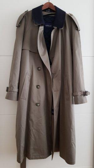 Cappotto invernale marrone chiaro-blu scuro