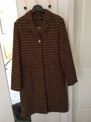 Zero Wollen jas bruin-lichtbruin