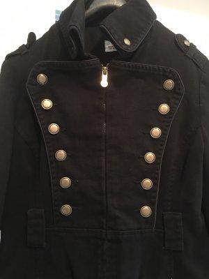 Cappotto stile pilota nero