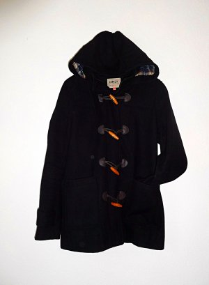 Only Heavy Pea Coat black-brown mixture fibre