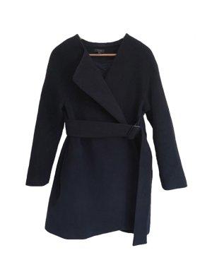 COS Abrigo de lana azul oscuro Lana