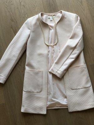 H&M Abrigo de piel rosa