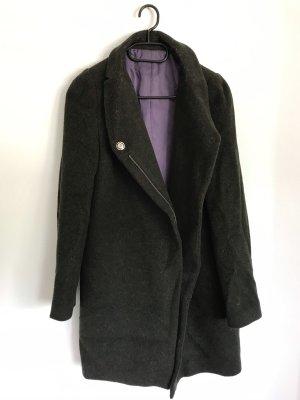 Abrigo de lana caqui-verde oscuro