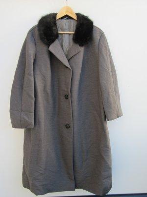 Mantel Damen true Vintage Retro Gr. 44 grau Pelz