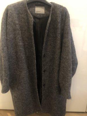 Vero Moda Cappotto in pile grigio scuro-antracite