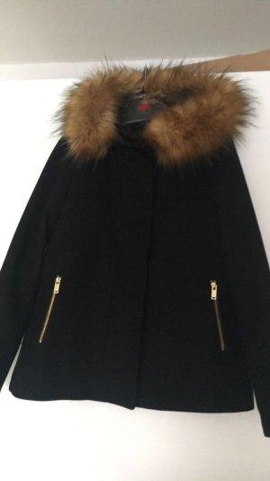 Zara Basic Trenca negro-marrón