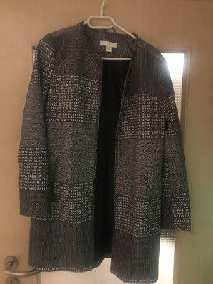 H&M Veste longue noir-blanc