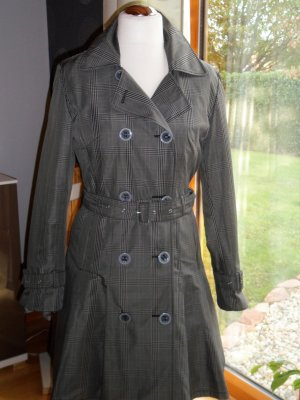 Betty Barclay Trenchcoat grijs-zwart Polyester