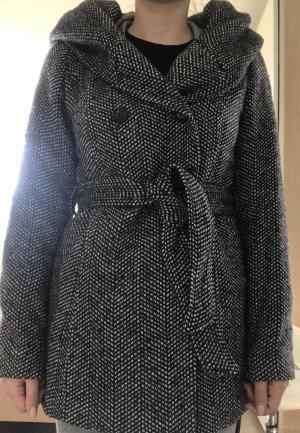 Manteau en laine multicolore