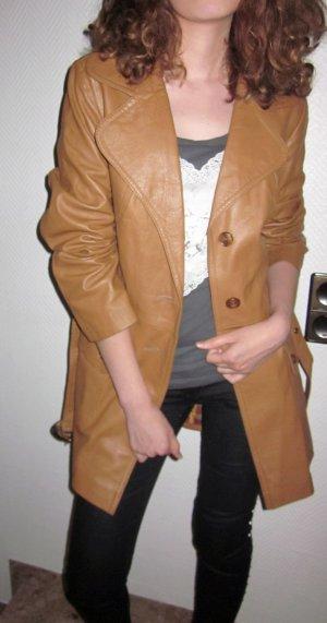 Leren jas camel-lichtbruin Leer