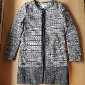 H&M Robe manteau blanc-noir