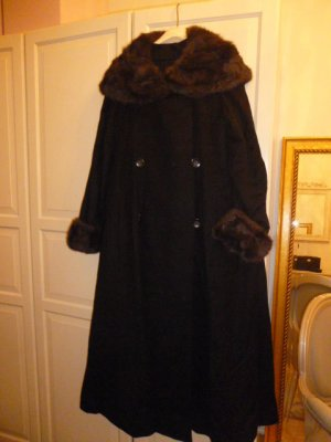 Mantel, elegant mit Fellkragen