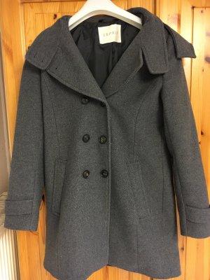 Mantel Esprit Woll-Mix, wie neu, abnehmbare Kapute