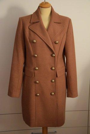 Beaumont Wollen jas donker oranje-zandig bruin Gemengd weefsel