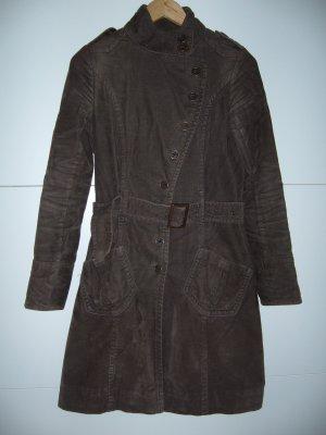 Mantel ganz feiner Cord braun Clockhouse XS 34 (auch schlanke S 36)