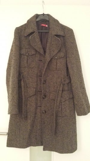 Mantel Gemustert braun/schwarz