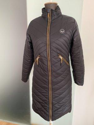 Versace Manteau matelassé noir-orange foncé
