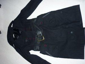 Mantel Gr 40 Promod Luxus zum Binden mit Gürtel Pirat schwarz