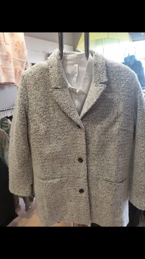 Sheego Abrigo de lana gris