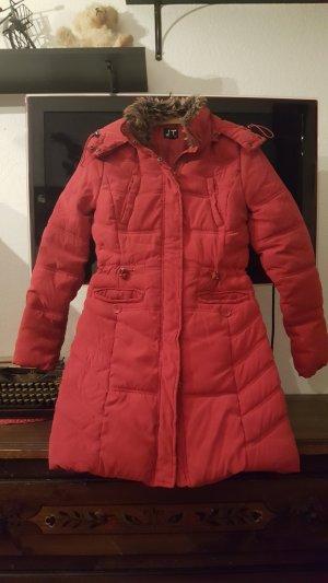 Manteau d'hiver rouge brique