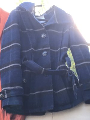 Only Hooded Coat dark blue