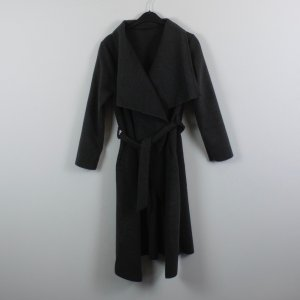 Coat taupe-dark grey polyester