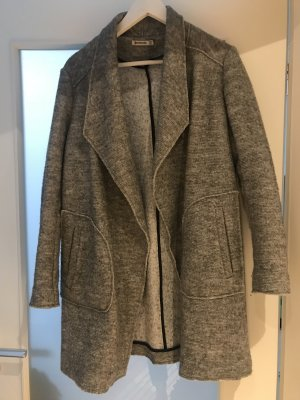 Stradivarius Oversized Coat light grey-grey