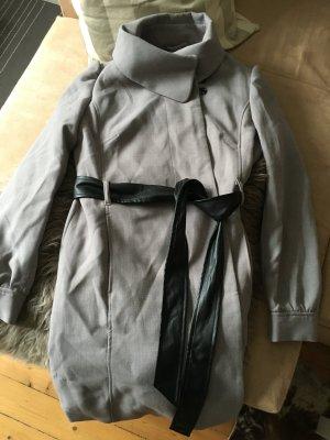 Mantel grau Gr. 42 mit Gürtel boho H&M
