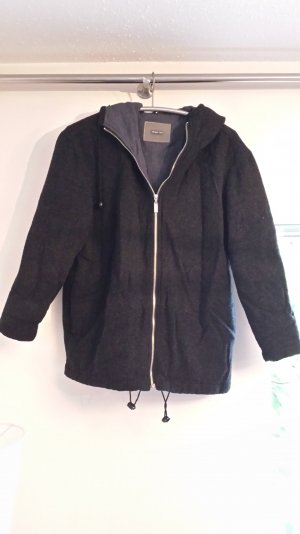 Mantel grau schwarz meliert