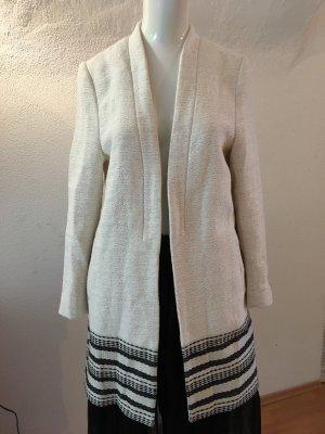 H&M Oversized Coat natural white-black