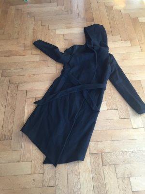 Mantel H&M Divided, asymmetrischer Schnitt, schwarz