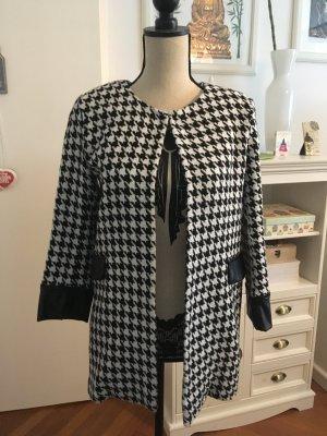 Abrigo corto negro-blanco