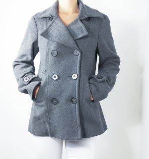 Mantel halblang cinque grau dunkelgrau warm