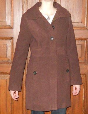 Mantel halblang kurz Kurzmantel braun Gr. XXL 44 retro UK 16 neu!