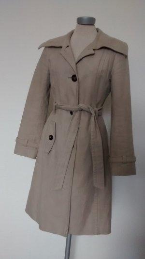 Mantel halblang tailliert beige Gr. UK 8 EUR 36 S Marks& Spencer Trenchcoat