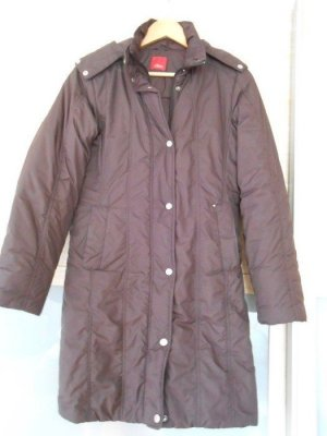 s.Oliver Hooded Coat dark brown mixture fibre