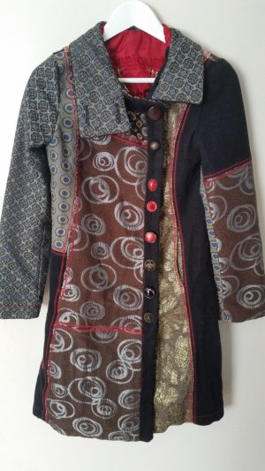 Desigual Heavy Pea Coat multicolored