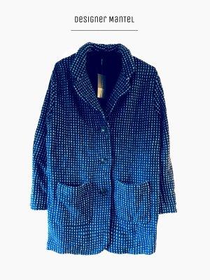 Mantel in dunkelblau langer Blazer wolle weich warm oversized / Marc Cain / N3-4