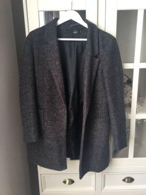 Only Abrigo corto gris oscuro-gris antracita