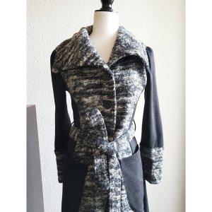 Mantel in grau-schwarz
