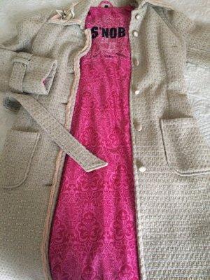 Snob Manteau en laine multicolore laine