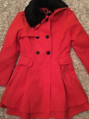 Mantel in rot/orange Gr. S