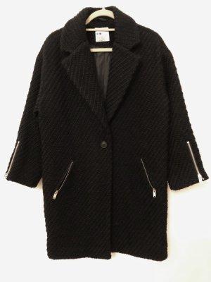 Mantel in Strickoptik