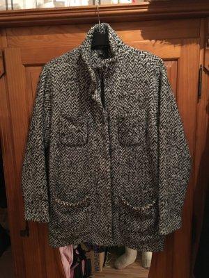 Mantel Jacke Coat Oversize Fischgrät Salz und Pfeffer Blogger Herbst Winter