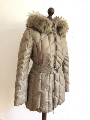 Feyem Abrigo de plumón marrón grisáceo