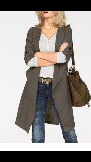 Mantel Jacke Khaki neu gr 38 M