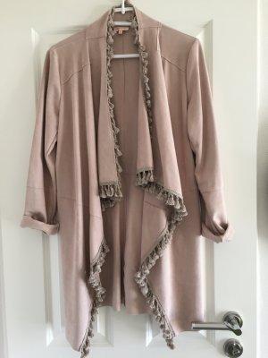 Ambika Long Jacket dusky pink imitation leather