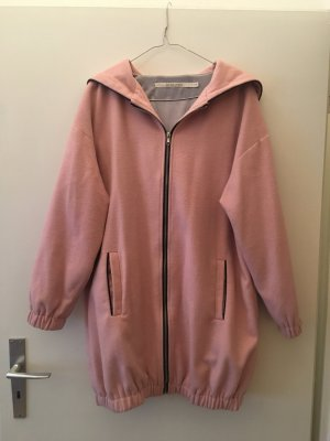Mantel Jacke mit großer Kapuze rosa Gr. S / 36 Asos weich