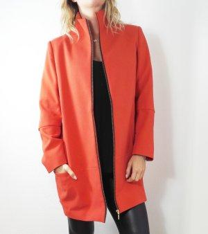 Mantel Jacke orange zara stylisch